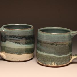 Smaller, straight sided mug with handle 11-12 oz