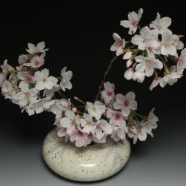 Ikebana in Leaf glaze