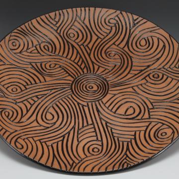 large carved platter