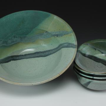 salad bowl set in ocean design